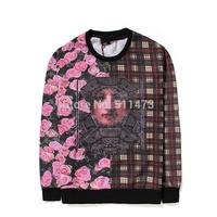 2015 GIV hip hop GVC Rose grid patchwork pullover