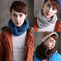 2014 winter male muffler scarf fashion all-match thermal yarn scarf muffler male collars male set