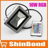 RGB 10W 100-240V Landscape Lighting IP65 outdoor LED Flood Light Floodlight LED street Lamp Free shipping