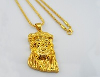 Hot sale Fashion Medusa Hip Hop Gold Plated Men Jewelry Pendant Statement Necklace Chain Necklaces & Pendants for Women unisex