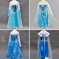 Retailer 2015 Summer Elsa Dress Custom Movie Dress Girl Dress Frozen Princess Elsa Costume for Children Fashion Dress m04