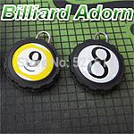 Freepost 15pcs/lot Round billiard balls keyring as billiard balls No1~No 15 Billiard Adorn keychain billiard snooker accessories