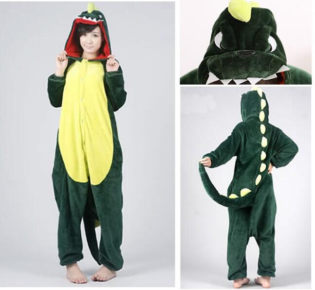 Новый динозавр унисекс взрослые фланелевые пижамы взрослых косплей мультфильм милый животных onesies пижамы костюм nightclothes динозавров