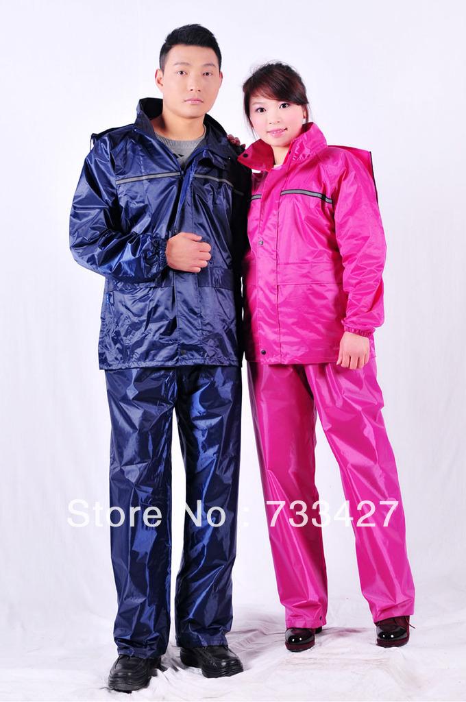 Fashion Men & Women Universal Waterproof Motorcycle & Electrombile Raincoat With Rain Suit And Pants(China (Mainland))