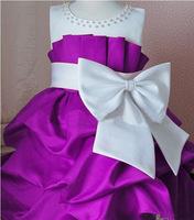 NEW Arrival 2014 children dress girls High-grade Princess dress chiffon Big bowknot dresse for summer