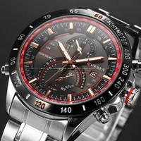 GAGA! 2015 New Design Brand New Mens Luxury Full Steel Quartz Watch Analog Men's Watch