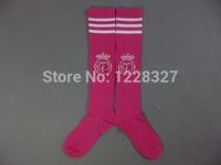 Thai quality Youth soccer socks.Kids Real Madrid away pink soccer sock.2014 Real Madrid Youth soccer sock,Mix order