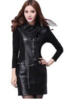 Spring 2015  Personality Fashion Patchwork Thin Plus Size Apparel Feminine Long Sleeved Dress M,L,XL,XXL,XXXL Free Shipping