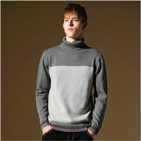 Free shipping Men's Turtleneck sweater jacket Slim Euro winter polo men's head warm sweater 10 Styles Plus Size