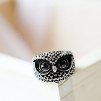 1 piece Free Shipping 2014 New Fashion Hot Selling Jewelry Ancient Silver/Bronze Retro Cute Owl Ring factory direct D012