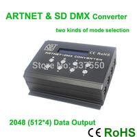 DC12V 4 Channel DMX512 Signal Converter Artnet & SD mode Input, 2048 pixel output,DMX400 controller for stage lighting control