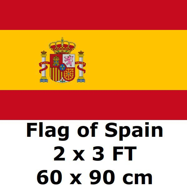 Flag of Spain 2` x 3` FT 100D Polyester 2018 World Cup Espana Bandera Spanish Flags and Banners Country Banner National Flag(China (Mainland))