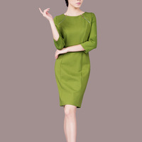 Hot!2014 high-end autumn women slim Thin OL elegent comfortable dress xxxl size For lady Chinese fashion cheongsam 3 colors