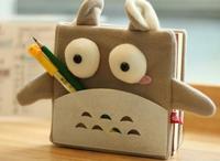 Creative Student Diary Blank Thick  Notebook Miyazaki Hayao Totoro Work-book Cute Cartoon Mini Pocketbook Free Shipping #M00050