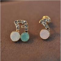 Stud music earrings women earring E464