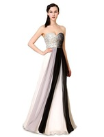 ym08 2015 New Design A-Line Sweetheart Off the shoulder Floor-Length Beading Sleeveless vestidos longos evening dresses