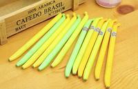 FREE SHIPPING Gel Ink Pen Banana Novel Design Office Writing Stationery say hi 41110 24pcs/lot