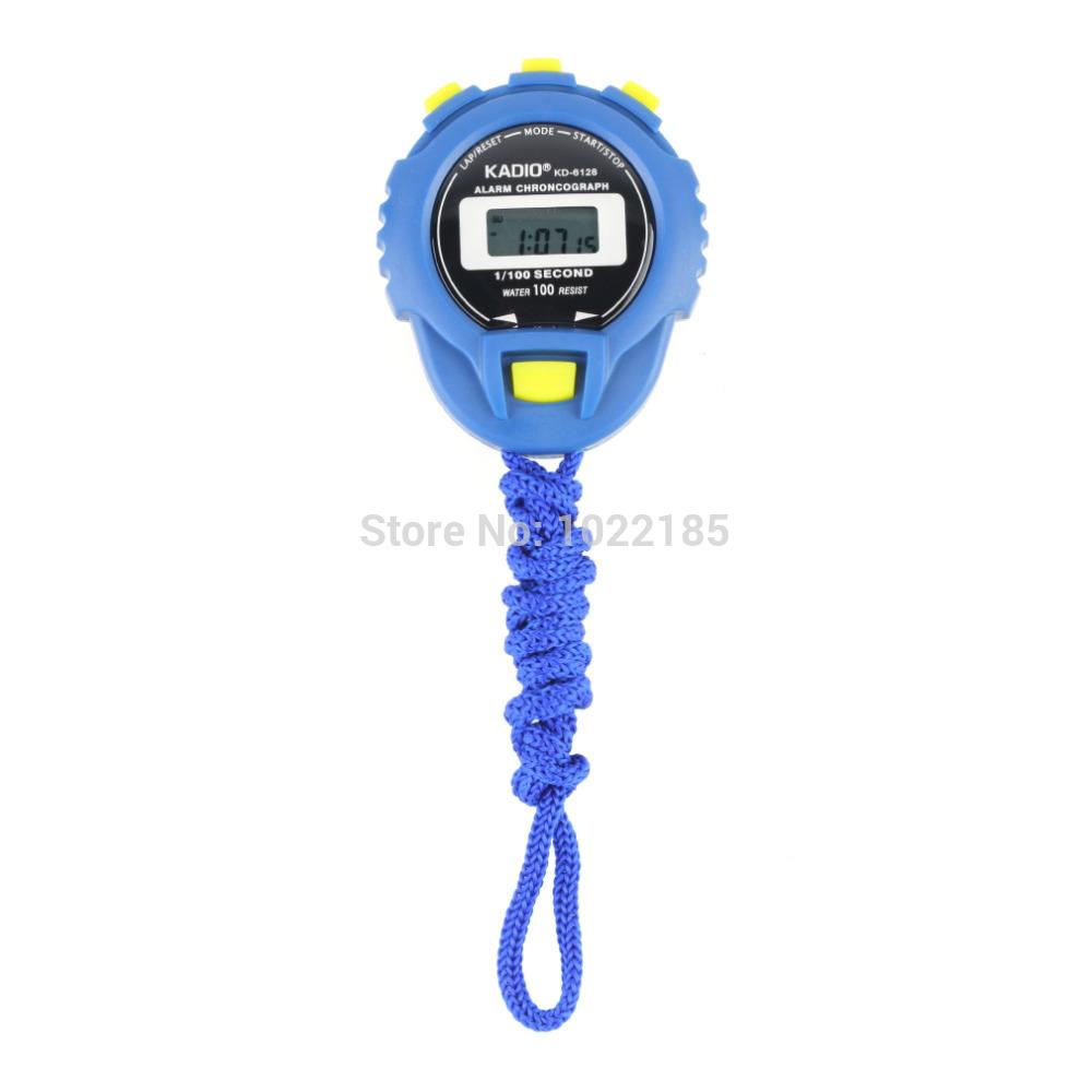 KD-6128 Chronograph Digital Timer Stopwatch Sport Counter Odometer Watch wholesale sale(China (Mainland))