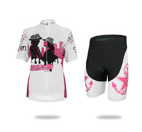 New Women's Road Biker Racing Team Cycling Short Sleeve Jersey Padded Shorts Suit Sets