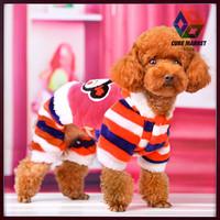 CUBE MARKET PET SHOP Pet Dog polar fleece jumpsuit for dogs Cartoon Printed dogs Jumpsuit Shirt Apparel