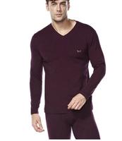 Maoren tight thermal underwear male 100% V-neck slim cotton long johns long johns autumn and winter thin 100% cotton underwear