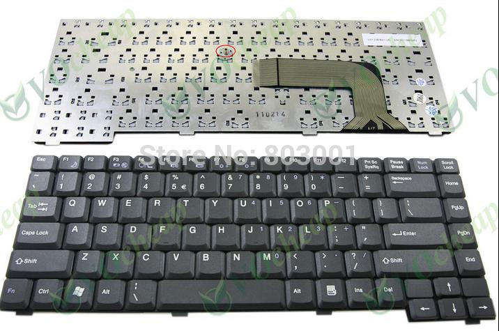 QWERTY Hot sale laptop computer keyboard for Fujitsu Pa1510 Pa2510 Pi1505 US Layout(China (Mainland))