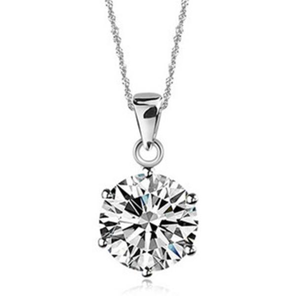 Colgantes Collares Mujer Silver Pendant Necklace With Cameo CZ Diamond Fine Jewelry Suspension 60 Off Ulove