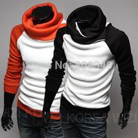 hot sale Men's slim fit 2 tone colors round the neck collar sweater