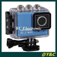 2014 New 2.0 Inch TFT Full HD MINI Sport DV With Wifi Portable Action Camera Sport DVR Diving 30M Waterproof Helmet Camera