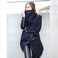 2015 New Fashion   winter woolen overcoat women Jackets woolen coat Free Shipping J9139