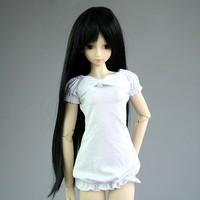 """[wamami] 15# Black Wig/Straight Wig/ For 1/4 MSD AOD DOD DZ BJD Dollfie 7""""-8"""""""