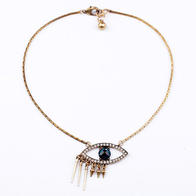 Jewelry High quality New design Luxury Style Eyes vintage Fashion choker statement Necklace& Pendants Free Shipping FHA0148(China (Mainland))