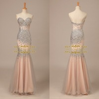 2015 Luxury New Design Sweetheart Eevening Dress 2014 In Stock 100% Real Pictures with Beading Evening Dress ZY 4049