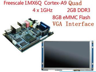 Freescale I.MX6Q Mini-PC E9 Cortex-A9 Quad Development Board (Linux+Qt System) + 7.0 inch LCD Module 2GB DDR3 8GB Flash(China (Mainland))
