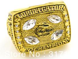 1996 Florida Gators SEC champions football ring14k gold plated replica(China (Mainland))