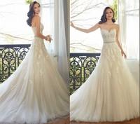 Vestido De Novia Casamento 2015 New Custom Made Sweetheart Appliques A line Tulle Wedding Dresses Bridal Gown ZY4072
