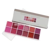 Alvin`sFree Shipping Professional Cosmetic 12 Color Gorgeous Lipsticks Lip Gloss Makeup Palette Lipstick Palette