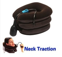 Free Shipping Cervical Neck Air Traction Device Shoulder Headache Relax Soft Brace Support Massager Pillow Relief Adjustable
