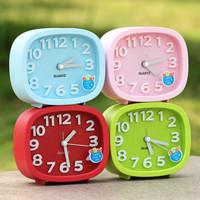 Brief candy color cartoon stereo digital alarm clock mute alarm clock