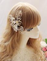 Bride handmade beaded bride hairpin hair accessory wedding accessories