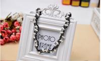 2014 New Lady Hair Accessory Silver Pearl Flower Rhinestone Headband Hair Band jewelry 1207002