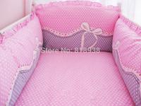 With Filler HOT 5 Pcs/sets baby bedding crib set 100% cotton crib bumper baby cot sets baby bed bumper free shipping