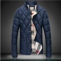 High quality large size men's winter coat jacket Slim warm cotton coat jacket M-5XL. Free Shipping
