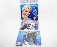 Frozen Puzzles Toys Frozen Educational Jigsaw Toy Learning Education Classic Baby Toy Brinquedos 3pcs/set 96130