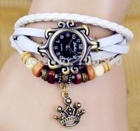 2015 New Arrivals High Quality Women Dress Genuine Leather Vintage Watch,women watch,bracelet  watches,goddess