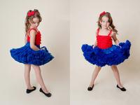 2015 new fashion baby girls dark blue pettiskirt soft nylon fluffy quality trim newborn---12T factory design outlets kids skirt