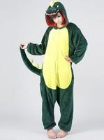 Dinosaur Unisex Adult Flannel Pajamas Adults Cosplay Cartoon Cute Animal Onesies Sleepwear Suit Nightclothes Dinosaur