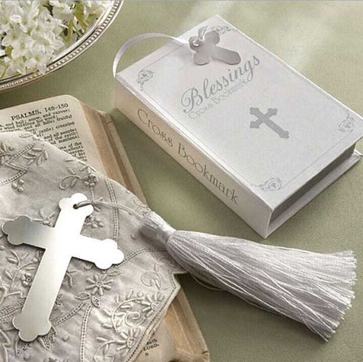 10pcs/lot Wedding Party Supplies favor gift Thanksgiving romantic wedding souvenir books cross bookmark(China (Mainland))
