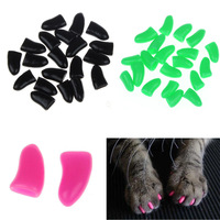 New Fashion 20pcs Soft Cat Pet Nail Caps Claw Control Paws Off Size S-XXL Not included Adhesive Glue Free Shipping