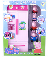 Retail&Wholesale Kids Toys! 2014New Year Peppa Pig&Family Doll With Chicken Toys Cartoon George&Pepe Pig Toys Baby JuguetesKT077